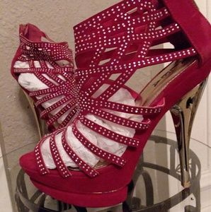 Red Alba stiletto heels